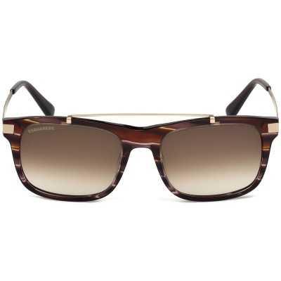 Ochelari de soare barbatesti - Dsquared2 DQ0218 50F 55 Maro Dsquared2 Ochelari de soare Barbatesti