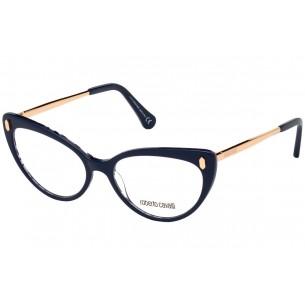 Rama ochelari de vedere, de dama, Roberto Cavalli RC5109 092 52 Albastru Roberto Cavalli Rame de vedere Dama