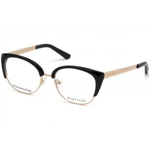 Rama ochelari de vedere, Guess By Marciano GM0334 001 52 Negru / Auriu Guess By Marciano Rame de vedere Dama
