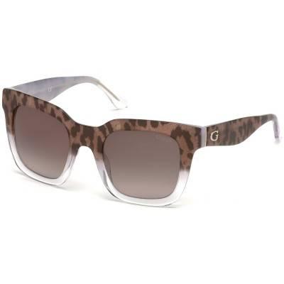 Ochelari de soare, de dama - Guess - GU7478 C50 - Havana Guess Ochelari de soare Dama