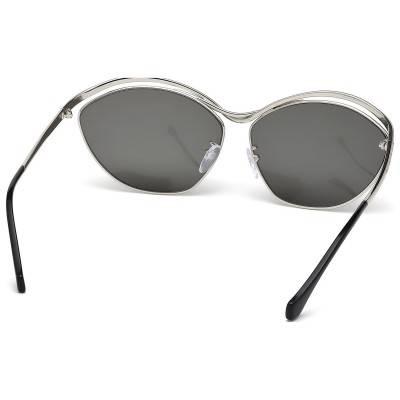 BALENCIAGA - BA0013 16A Silver Balenciaga Ochelari de soare Dama